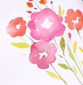 Watercolor Bouquet by Greer Deneen