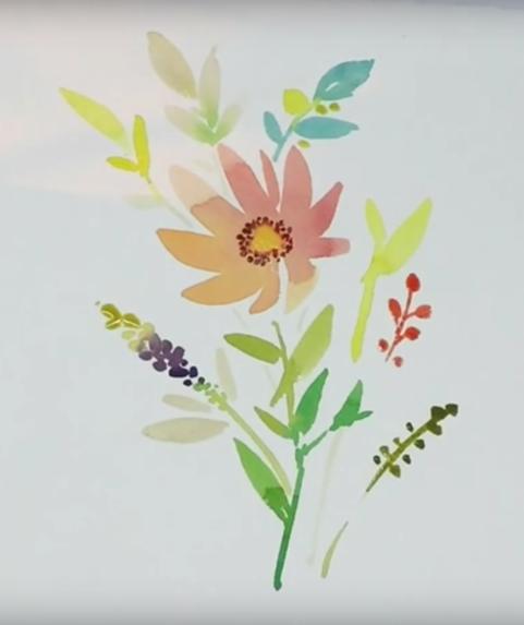 Watercolor Sample by Greer Deneen