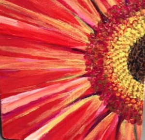Paint a flower like this one we found for sale on Etsy's DarlingFlorals